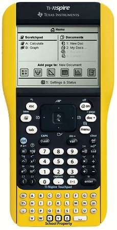 TI-Nspire EZ Spot Yellow Handheld with Touchpad Teacher Kit- In Stock - Refurbished